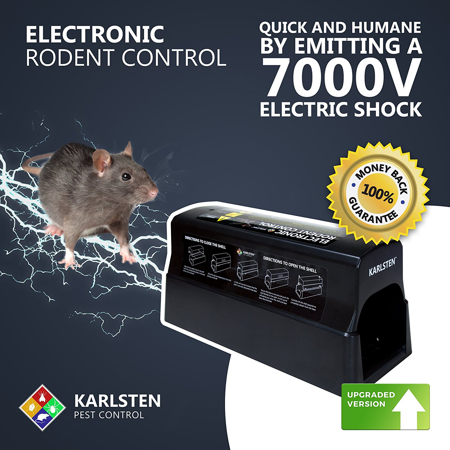 Karlsten Electronic Rodent Control Trap